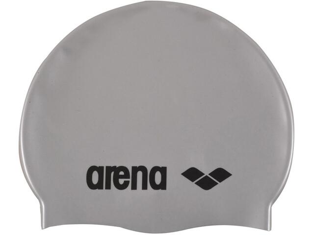arena Classic Silicone Cap silver-black